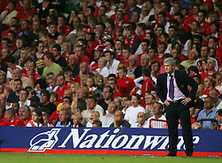 CARDIFF, WALES - Wednesday, September 8, 2004: Wales' manager John Toshack MBE during the Group Six World Cup Qualifier against Northern Ireland at the Millennium Stadium. (Pic by David Rawcliffe/Propaganda)