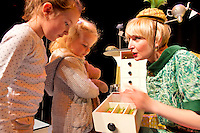 18/10/2012 Zara Tlos from Knocknacarra and Siun O Flaherty from Oughterard  were at Nun's Island Theatre for Potato Needs a Bath from Shona Reppe from Scotland which is part of the Baboro International Children's Arts FEstival running till Sunday. PIcture:Andrew Downes