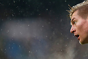 Real Madrid's German midfielder Toni Kroos reacts during the Spanish championship Liga football match between Real Madrid and Villarreal on January 13, 2018 at Santiago Bernabeu stadium in Madrid, Spain - Photo Benjamin Cremel / ProSportsImages / DPPI