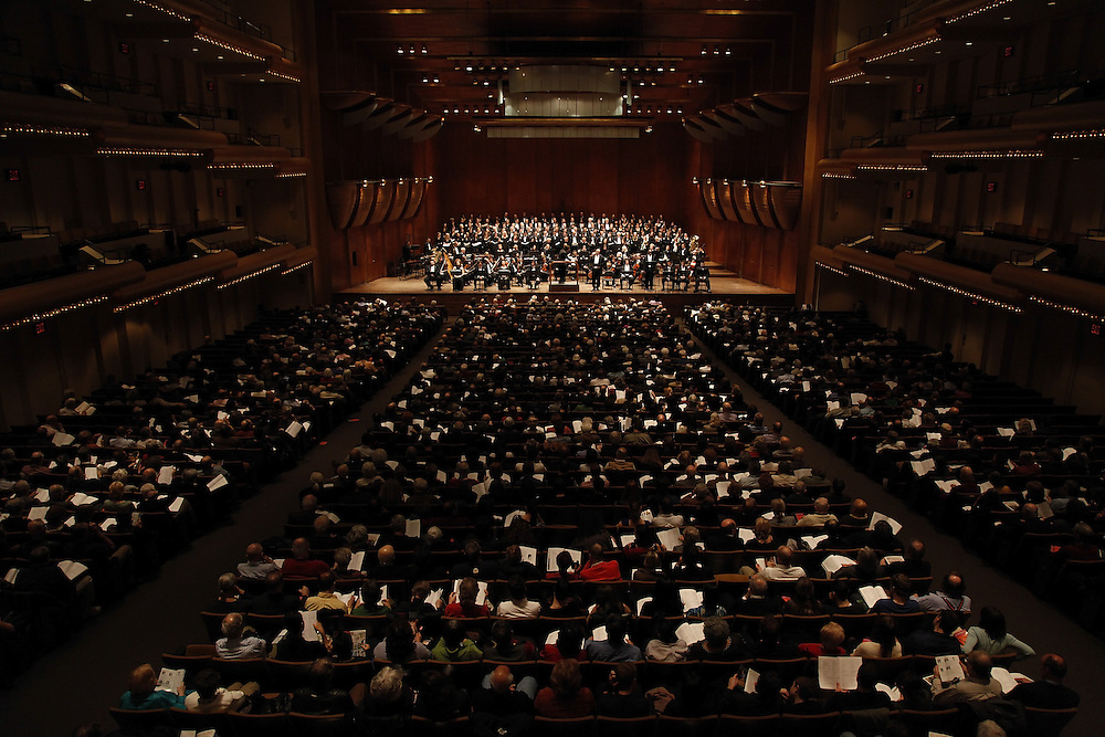 "General view at The Teatro Grattcielo Presents Pietro Mascagni's  ""IL PICCOLO MARAT"" at Avery Fisher Hall on April 13, 2009 in New York city. photo by Joe Kohen for The New York Times"