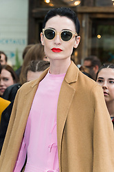 © Licensed to London News Pictures. 18/09/2016.  ERIN O'CONNOR attends the TOP SHOP UNIQUE  Spring/Summer 2017 show. Models, buyers, celebrities and the stylish descend upon London Fashion Week for the Spring/Summer 2017 clothes collection shows. London, UK. Photo credit: Ray Tang/LNP<br /> <br /> <br /> London, UK. Photo credit: Ray Tang/LNP