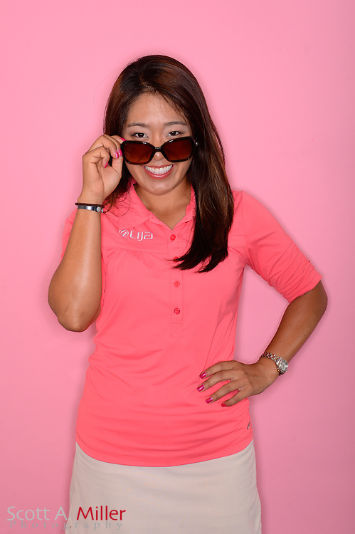 Jenny Suh during a portrait session prior to the Symetra Tour's Florida's Natural Charity Classic at the Lake Region Yacht and Country Club on Mar 19, 2013  in Winter Haven, Florida. ..©2013 Scott A. Miller