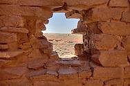 View through one of the windows at Wukoki Pueblo - Wupatki National Monument, AZ