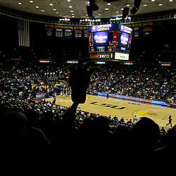 January 2, 2012; Baton Rouge, LA; A general view as fan holds up a foam tiger claw during the second half of a game between the LSU Tigers and the Virginia Cavaliers at the Pete Maravich Assembly Center. Virginia defeated LSU 57-52.  Mandatory Credit: Derick E. Hingle-US PRESSWIRE