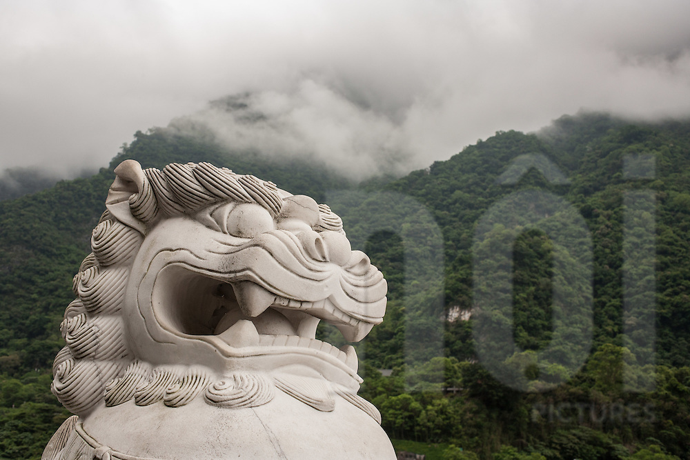 Statue at Taroko Gorge, near Hualien, Taiwan, Republic of China, Asia