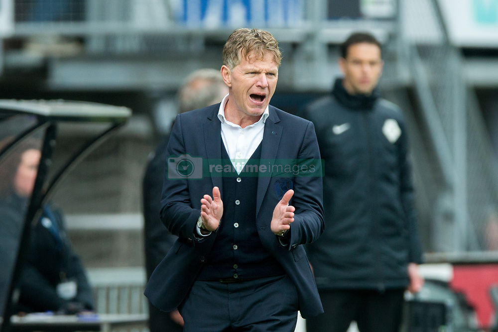coach Fons Groenendijk of ADO Den Haag during the Dutch Eredivisie match between Sparta Rotterdam and ADO Den Haag at the Sparta stadium Het Kasteel on March 04, 2018 in Rotterdam, The Netherlands