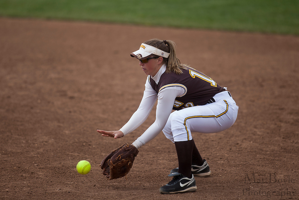 Rowan University Softball Junior Nicole Escudero (12); Rutgers-Camden softball at Rowan University on Tuesday April 10, 2012 in Glassboro, NJ. (photo / Mat Boyle)