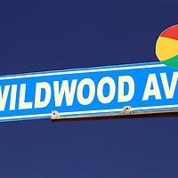 Wildwood Ave street sign, Wildwood, New Jersey
