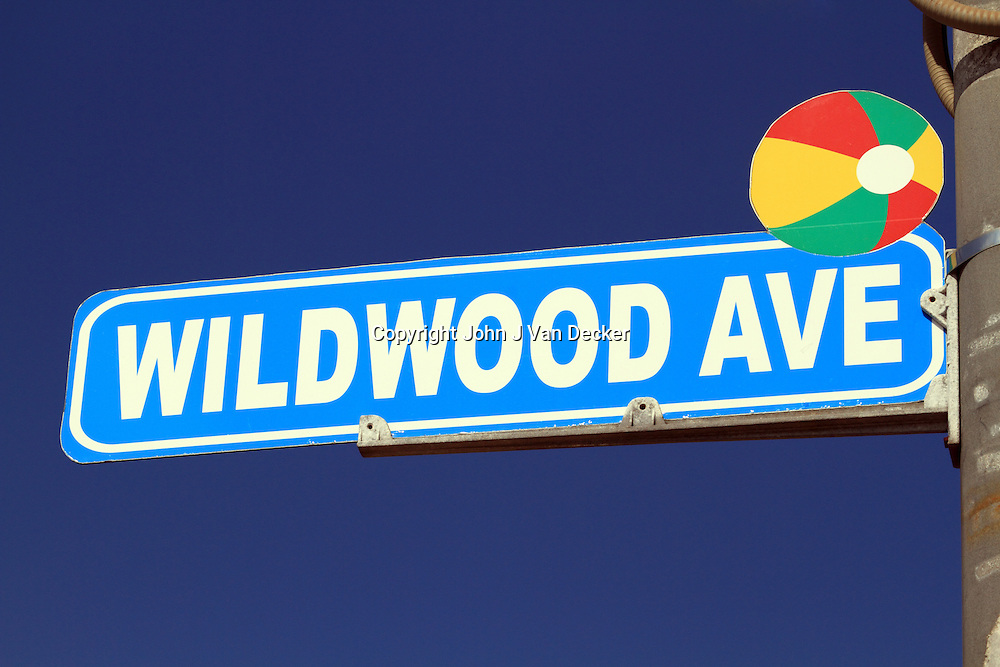 Wildwood Ave street sign, Wildwood, New Jersey