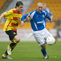 St Johnstone v Partick Thistle....25.10.08<br /> Paul Paton holds Paul Sheerin<br /> Picture by Graeme Hart.<br /> Copyright Perthshire Picture Agency<br /> Tel: 01738 623350  Mobile: 07990 594431