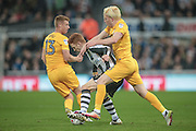 Jack Colback (Newcastle United) is fouled by Ben Pringle (Preston North End) during the EFL Cup 4th round match between Newcastle United and Preston North End at St. James's Park, Newcastle, England on 25 October 2016. Photo by Mark P Doherty.