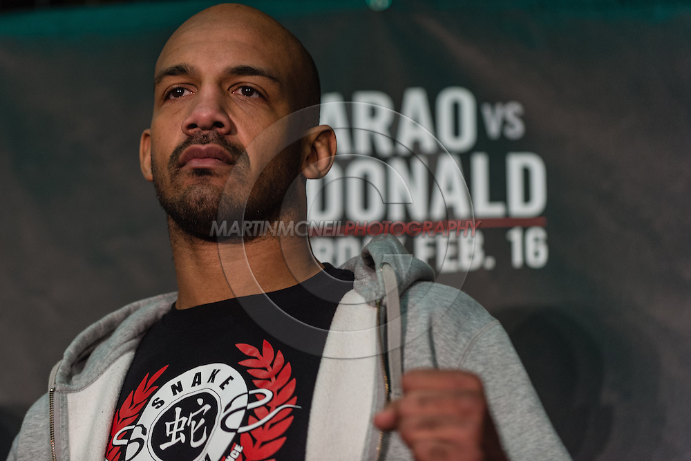 LONDON, ENGLAND, FEBRUARY 13, 2013: Cyrille Diabate during the pre-fight press conference for UFC on Fuel TV 7 inside London Shootfighters Gym in Park Royal, London, England on Wednesday, February 13, 2013 © Martin McNeil