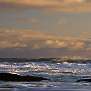 Storm waves crash into the coast of Washington on Second Beach in Olympic National Park.