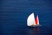Hetarios sailing in the St. Barth's Bucket superyacht regatta, race 3.