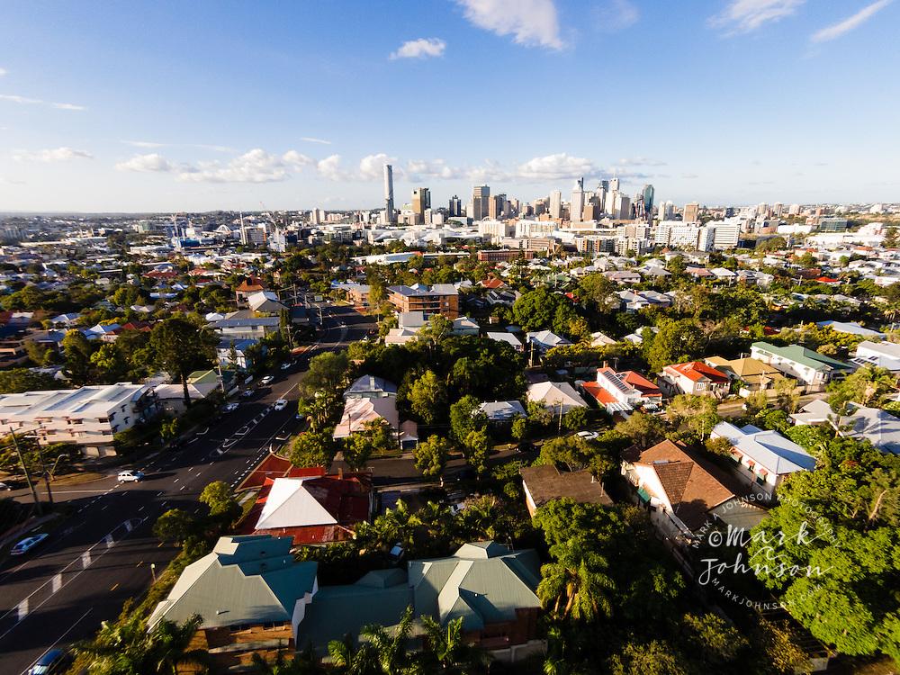 Aerial photograph of Brisbane, Queensland, Australia