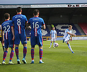 Dundee's Greg Stewart fires in a free kick - Inverness v Dundee  - SPFL Premiership at the Caledonian Stadium<br /> <br />  - &copy; David Young - www.davidyoungphoto.co.uk - email: davidyoungphoto@gmail.com