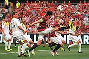 20.10.2013 Sydney, Australia. Wanderers captain Michael Beauchamp in action during the Hyundai A League game between Western Sydney Wanderers FC and Wellington Phoenix FC from the Pirtek Stadium, Parramatta. The game ended in a 1-1 draw.