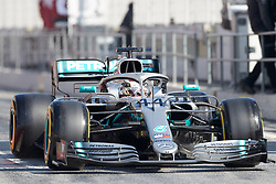 February 28, 2019 - Montmelo, BARCELONA, Spain - Lewis Hamilton (Mercedes AMG Petronas Motosport) W10 car, seen in action during the winter testing days at the Circuit de Catalunya in Montmelo (Catalonia), Thursday, February 28, 2019. (Credit Image: © AFP7 via ZUMA Wire)