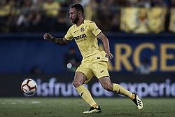 August 31, 2018 - Vila-Real, Castellon, Spain - Miguel Arturo Layun Prado of Villarreal CF with the ball during the La Liga match between Villarreal CF and Girona FC at Estadio de la Ceramica on August 31, 2018 in Vila-real, Spain  (Credit Image: © David Aliaga/NurPhoto/ZUMA Press)