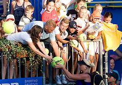 Tadeja Majeric of Slovenia with fans after 1st Round of Banka Koper Slovenia Open WTA Tour tennis tournament, on July 20 2009, in Portoroz / Portorose, Slovenia. (Photo by Vid Ponikvar / Sportida)