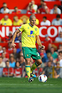 Picture by Paul Chesterton/Focus Images Ltd.  07904 640267.1/10/11.Marc Tierney of Norwich in action during the Barclays Premier League match at Old Trafford Stadium, Manchester.