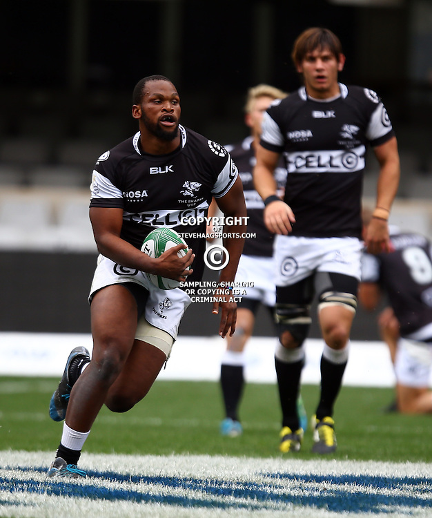 DURBAN, SOUTH AFRICA - SEPTEMBER 10: Mthokozisi Ntuli of the Cell C Sharks Under 19's during the Currie Cup U19 match between the Sharks and Free State at Growthpoint Kings Park on September 10, 2016 in Durban, South Africa. (Photo by Steve Haag/Gallo Images)