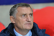 Tony Mowbray during the Sky Bet League 1 match between Coventry City and Southend United at the Ricoh Arena, Coventry, England on 31 August 2015. Photo by Simon Davies.