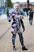 UNITED KINGDOM, London: 24 May 2019 <br /> Cosplay fan Gen Douglas, aged 32, dresses as Archmage Modera at the ExCeL Centre in London today for the MCM London Comic Con. Thousands of cosplay enthusiasts will come to the ExCeL Centre across the next three days to enjoy the convention.