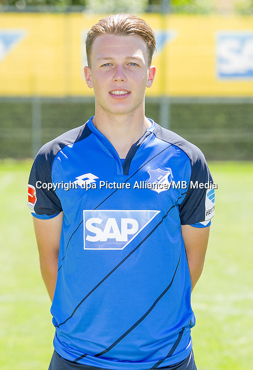 German Bundesliga - Season 2016/17 - Photocall 1899 Hoffenheim on 19 July 2016 in Zuzenhausen, Germany: Dennis Geiger. Photo: APF  | usage worldwide