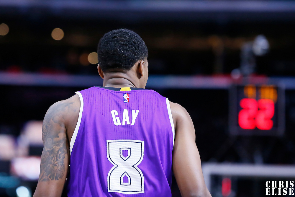 02 November 2014: Sacramento Kings forward Rudy Gay (8) is seen during the Sacramento Kings 98-92 victory over the Los Angeles Clippers, at the Staples Center, Los Angeles, California, USA.