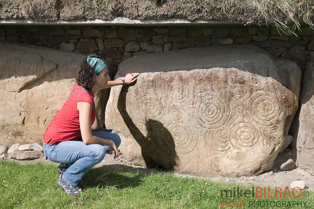 Megalithic art. Knowth passage tomb. Brú na Bóinne. Meath County, Republic of Ireland.