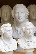 Schillerbüsten, Weimar, Thüringen, Deutschland | Schiller busts, Weimar, Thuringia, Germany