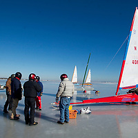 Ice boating Stock Images