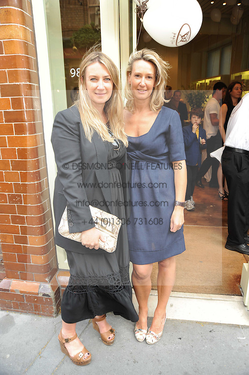 sisters ANYA HINDMARCH and NICOLE ROBINSON at Papillon Shoes Enchanted Tea Party Store Launch 98 Marylebone Lane, London W1 on 25th May 2010.