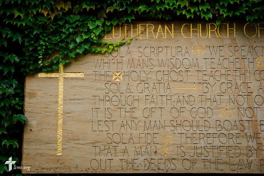 The exterior stonework at First Lutheran Church, Boston, on Wednesday, Oct. 25, 2017, in Boston. LCMS Communications/Erik M. Lunsford