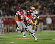 Mississippi running back Jaylen Walton (6) vs. LSU at Vaught-Hemingway Stadium in Oxford, Miss. on Saturday, October 19, 2013. Mississippi won 27-24. (AP Photo/Oxford Eagle, Bruce Newman)