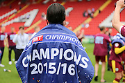 Burnley midfielder, George Boyd (21) wearing flag during the Sky Bet Championship match between Charlton Athletic and Burnley at The Valley, London, England on 7 May 2016. Photo by Matthew Redman.
