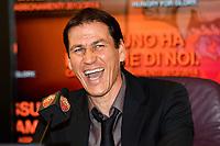 Rudi Garcia nuovo allenatore As Roma <br /> New As Roma coach Rudi Garcia <br /> Roma 19/6/2013 Centro sportivo Trigoria<br /> Football Calcio 2013/2014<br /> Conferenza stampa di presentazione del nuovo allenatore dell'As Roma<br /> New As Roma coach press conference<br /> Foto Andrea Staccioli Insidefoto