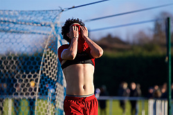 BLACKBURN, ENGLAND - Saturday, January 6, 2018: Liverpool's Curtis Jones looks dejected after missing a chance during an Under-18 FA Premier League match between Blackburn Rovers FC and Liverpool FC at Brockhall Village Training Ground. (Pic by David Rawcliffe/Propaganda)