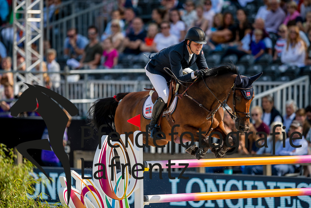 Gulliksen Johan-Sebastian, NOR, Exit of Ice Z<br /> Rotterdam - Europameisterschaft Dressur, Springen und Para-Dressur 2019<br /> Longines FEI Jumping European Championship - 1st part - speed competition against the clock<br /> 1. Runde Zeitspringen<br /> 21. August 2019<br /> © www.sportfotos-lafrentz.de/Dirk Caremans