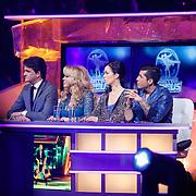 NLD/Hilversum/20130202 - 6de liveshow Sterren Dansen op het IJs 2013, jury, Marucie Wijnen, Patricia Paay, Martine Zuiderwijk en Jody Bernal