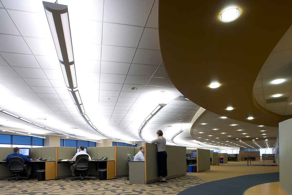 Cubicles in open office architecture