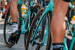 Bianchi of LOBATO Juan José from Team LottoNL-Jumbo during 1st lap on local circuit, UCI Men WorldTour 81st La Flèche Wallonne at Huy Belgium, 19 April 2017. Photo by Pim Nijland / PelotonPhotos.com | All photos usage must carry mandatory copyright credit (Peloton Photos | Pim Nijland)