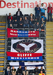 York City supporters display banners - Mandatory byline: Rogan Thomson/JMP - 07966 386802 - 25/08/2015 - FOOTBALL - Liberty Stadium - Swansea, Wales - Swansea City v York City - Capital One Cup Second Round.