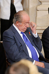 24.06.2015, Palacio Real, Madrid, ESP, Festakt zu 30 Jahre EU Mitgliedschaft Spaniens, im Bild King Juan Carlos I // attends the 30th Anniversary of Spain being part of European Communities at the Palacio Real in Madrid, Spain on 2015/06/24. EXPA Pictures © 2015, PhotoCredit: EXPA/ Alterphotos/ POOL/ Ricardo Garcia<br /> <br /> *****ATTENTION - OUT of ESP, SUI*****