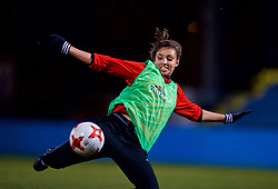 SAINT PETERSBURG, RUSSIA - Sunday, October 22, 2017: Wales' Amina Vine during a training session at the Petrovsky Minor Sport Arena ahead of the FIFA Women's World Cup 2019 Qualifying Group 1 match between Russia and Wales. (Pic by David Rawcliffe/Propaganda)