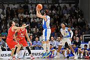 DESCRIZIONE : Beko Legabasket Serie A 2015- 2016 Playoff Quarti di Finale Gara3 Dinamo Banco di Sardegna Sassari - Grissin Bon Reggio Emilia<br /> GIOCATORE : Giacomo Devecchi<br /> CATEGORIA : Tiro Tre Punti Three Point Controcampo<br /> SQUADRA : Dinamo Banco di Sardegna Sassari<br /> EVENTO : Beko Legabasket Serie A 2015-2016 Playoff<br /> GARA : Quarti di Finale Gara3 Dinamo Banco di Sardegna Sassari - Grissin Bon Reggio Emilia<br /> DATA : 11/05/2016<br /> SPORT : Pallacanestro <br /> AUTORE : Agenzia Ciamillo-Castoria/C.Atzori