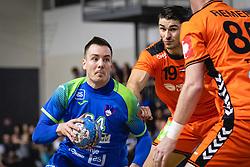 Rok Ovniček of Slovenia during friendly handball match between Slovenia and Nederland, on October 25, 2019 in Športna dvorana Hardek, Ormož, Slovenia. Photo by Blaž Weindorfer / Sportida