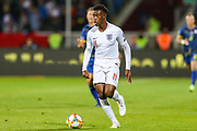 England midfielder Callum Hudson-Odoi during the UEFA European 2020 Qualifier match between Kosovo and England at the Fadil Vokrri Stadium, Pristina, Kosovo on 17 November 2019.