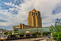The Wells Fargo Tower, Downtown Roanoke, Virginia USA.